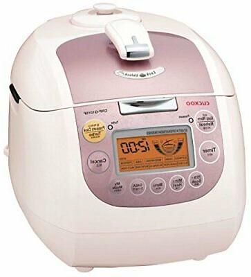 Cuckoo CRP-G1015F Electric Pressure Cooker, cups, Pink