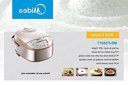 Midea Mb-fs5017 Smart Steamer Brushed Brown,