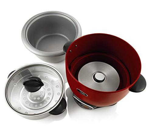Oster CKSTRCMS14-R 7-Cup uncooked resulting in 14-Cup cooked Rice Cooker with Steam Tray Red