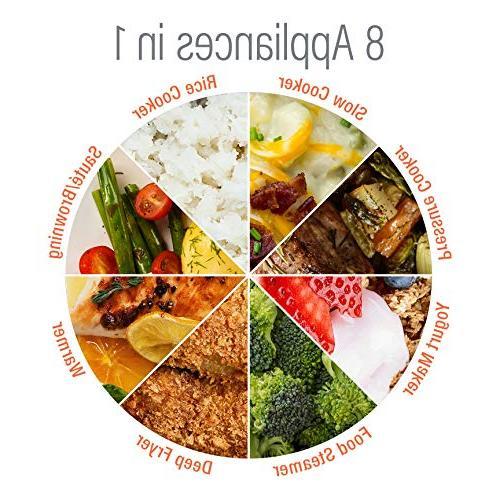 Rosewill Programmable Cooker 6Qt, Cooker Rice Cooker Cooker, Vegetable Steamer, Fryer, Yogurt Maker, HotPot RHPC-15001