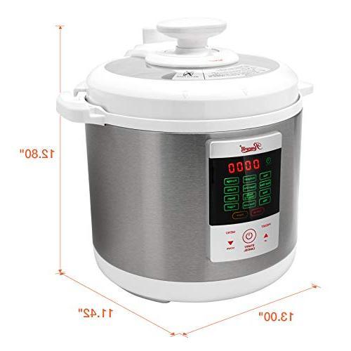 Rosewill Programmable 6Qt, 8-in-1 Instapot Cooker Cooker, Slow Cooker Pressure Steamer, Deep Fryer, Yogurt Maker, RHPC-15001