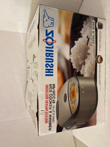 Zojirushi - 10-cup Rice Cooker - Stainless Dark Gray
