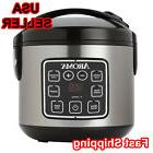 Aroma 8-Cup Easy to Use Stainless Steel Digital Rice Cooker