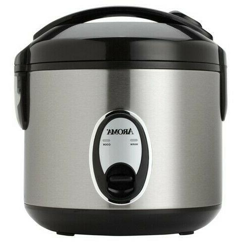 aroma 8 cup rice cooker stainless steel