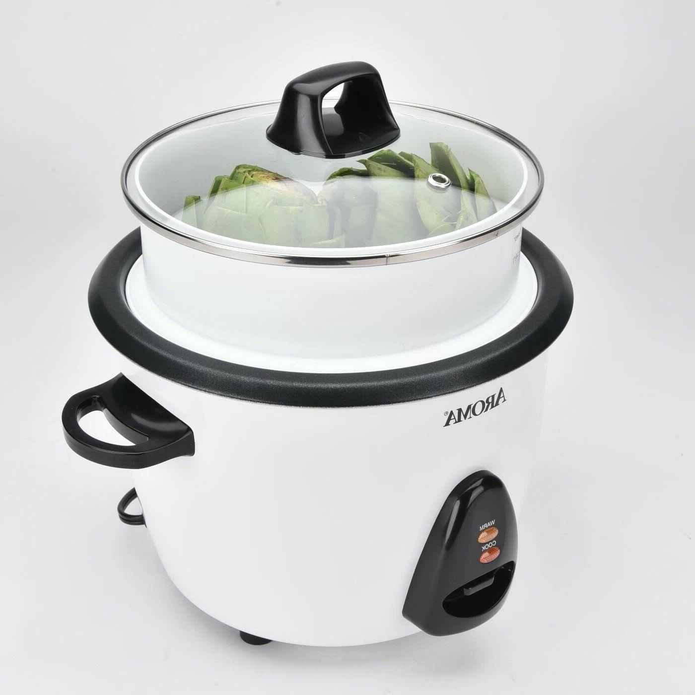 Aroma Electric Cup Rice Cooker Tray White