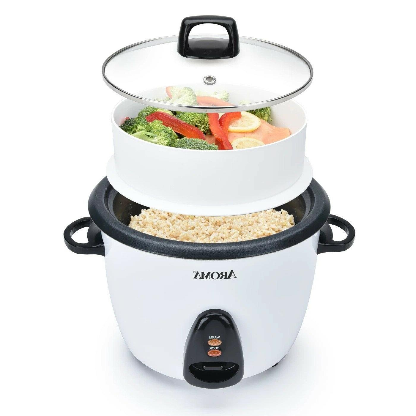 Aroma Rice Cooker with Tray White