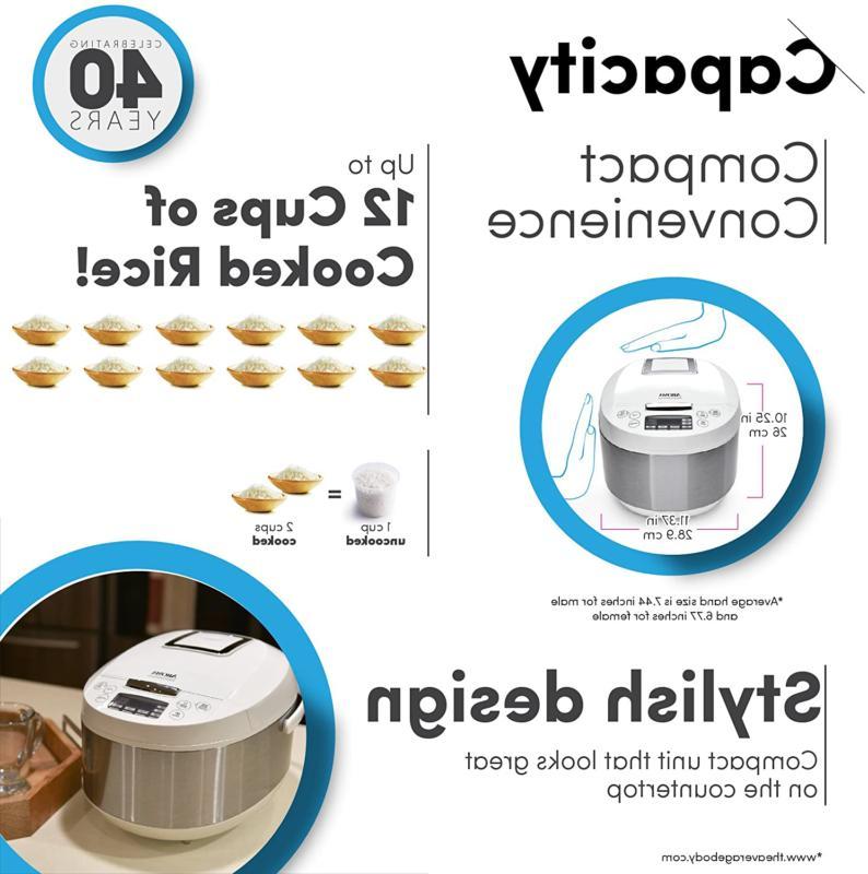Aroma Rice Cooker/Multicooker, White