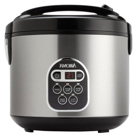 Aroma Rice Cooker Steamer, Stainless