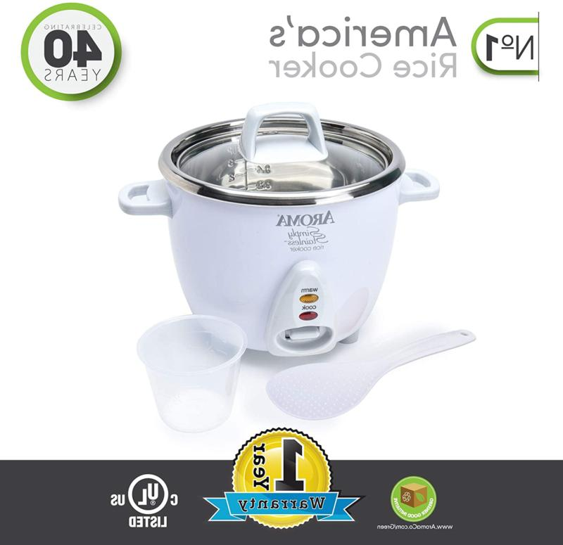 Aroma Stainless 3-Cup Uncooked to Rice