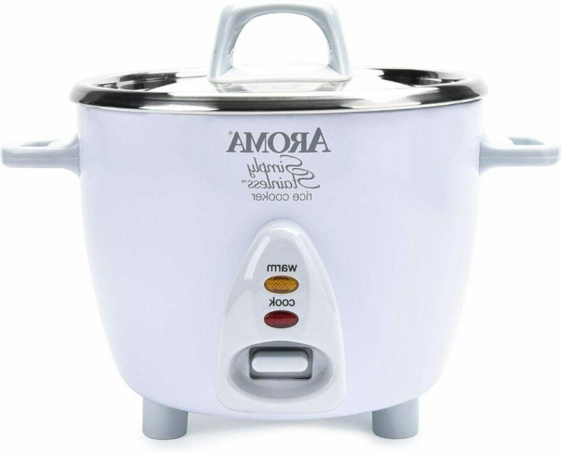 aroma simply stainless 3 cup uncooked to