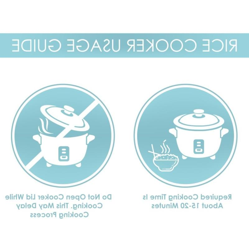 Aroma Simply Uncooked 6-Cup Rice Cooker, White