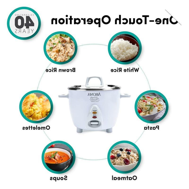 Aroma Stainless to 6-Cup Rice White