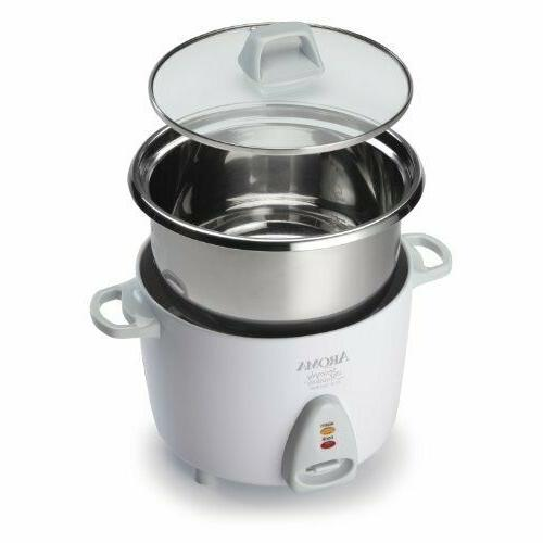 aroma simply stainless rice cooker white cooks