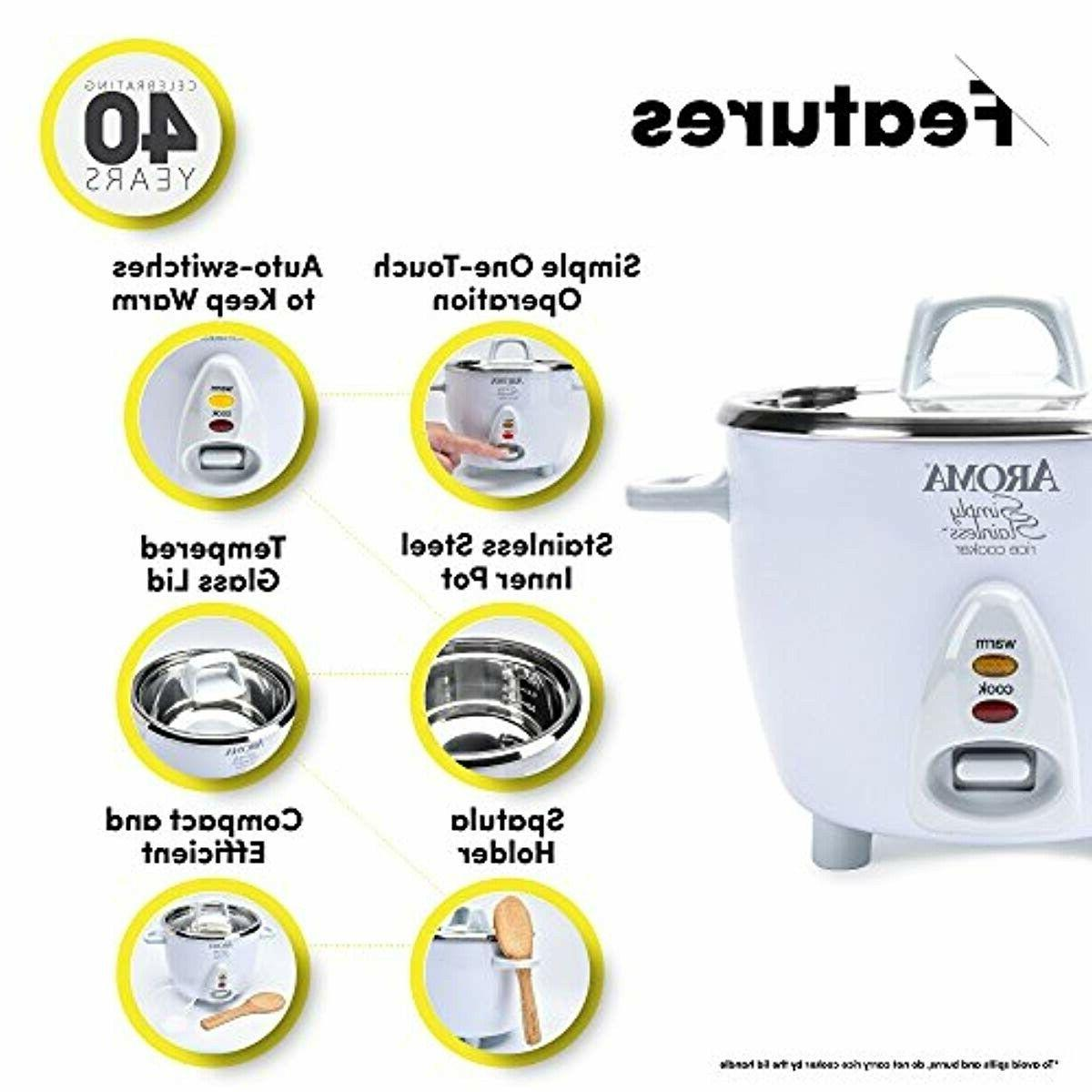 Aroma Simply Rice Cooker, White