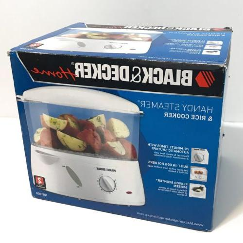 Black & Decker Handy Steamer & Rice Cooker HS1000 4 Quart Ne