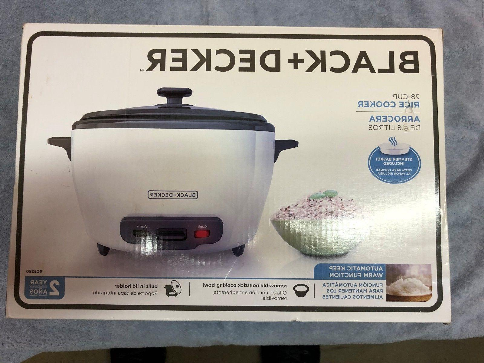 BLACK AND DECKER RICE STEAMER 28 CUPS COOKER STEAMER NEW IN