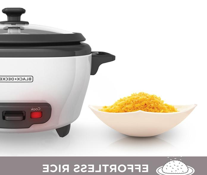 BLACK+DECKER 6-Cup Cooked/3-Cup Uncooked Cooker Food new