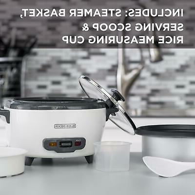 BLACK+DECKER Rice Cooker Food Steamer 300W