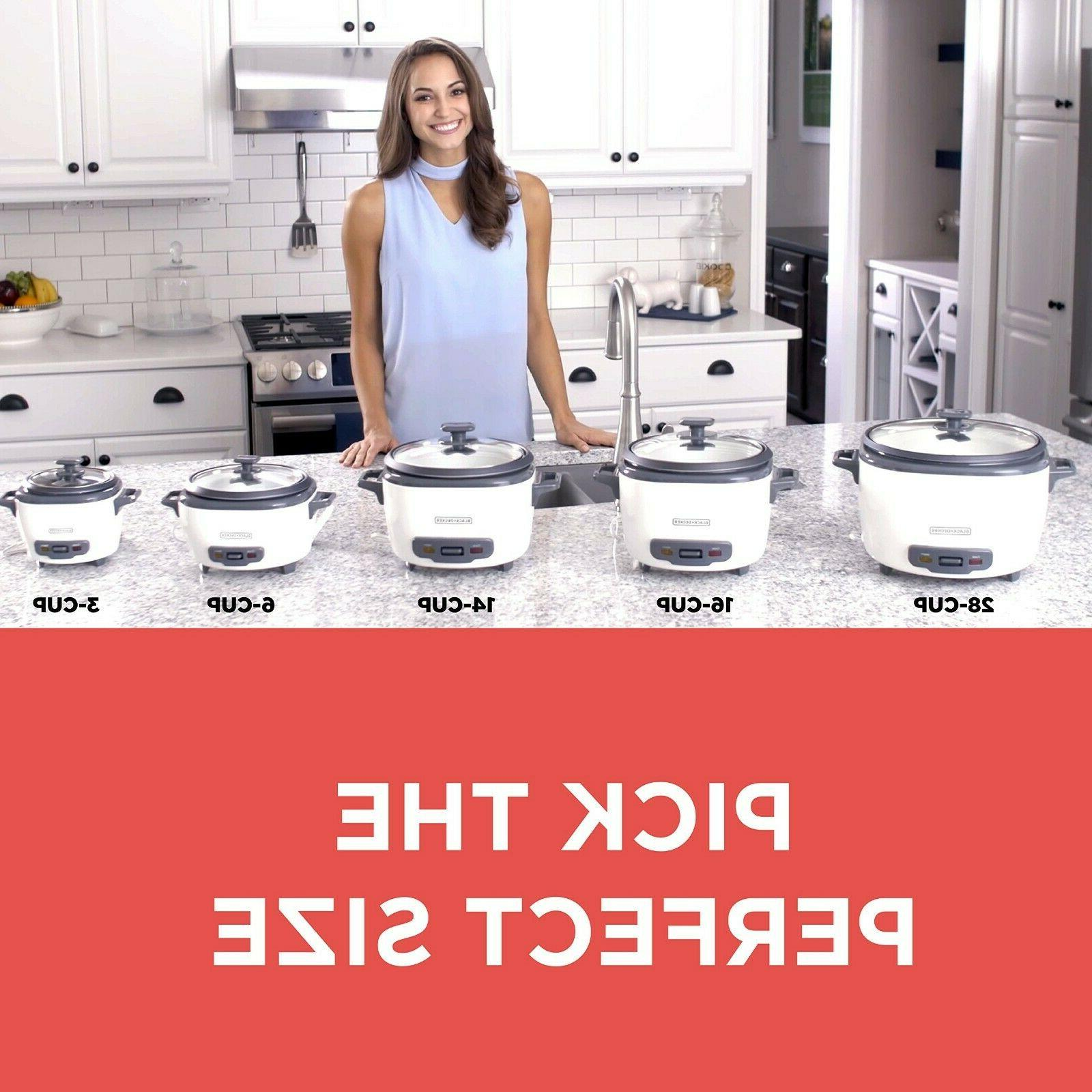 BLACK+DECKER RC506 Cooker 6-cup White and Food new