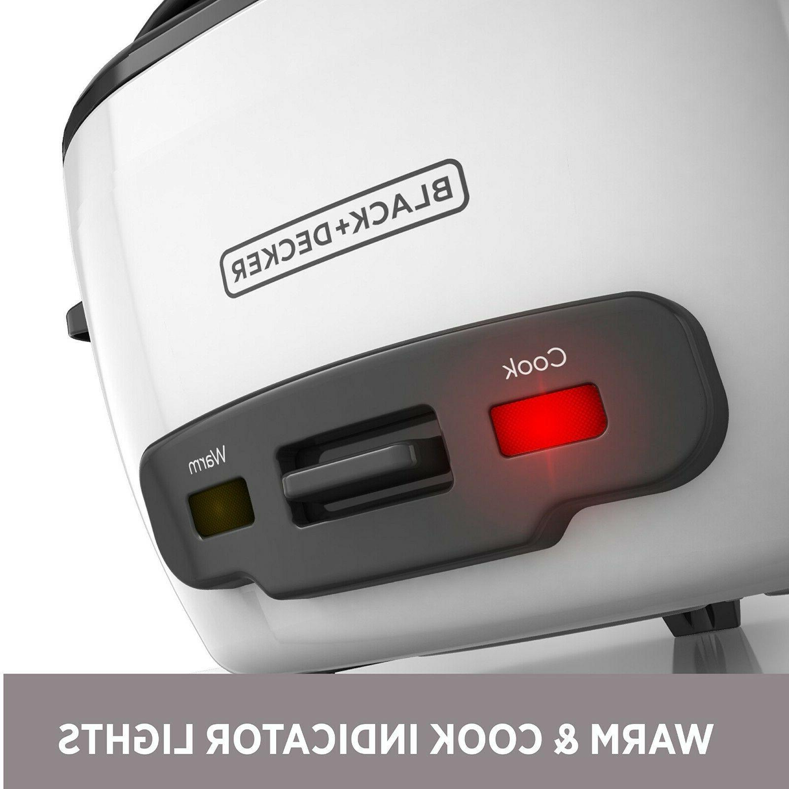 BLACK+DECKER RC506 Uncooked Rice Cooker White Food