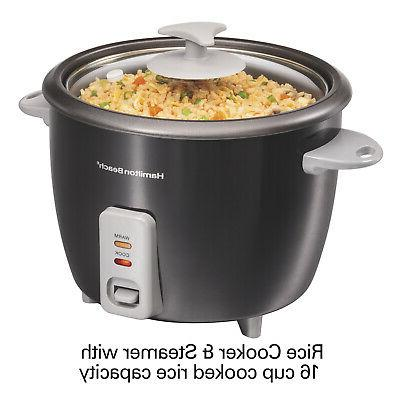 Black Electric Rice Cooker & Steamer Nonstick Pot & Lid