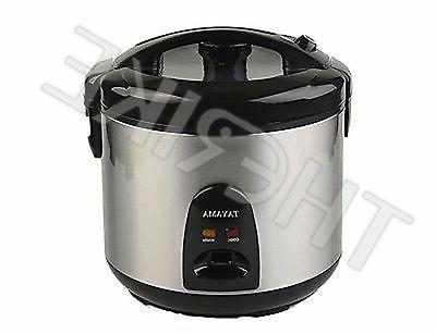 black stainless steel rice cooker 10 cup