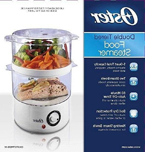 Oster 5-Quart Double Tiered Food White, New,