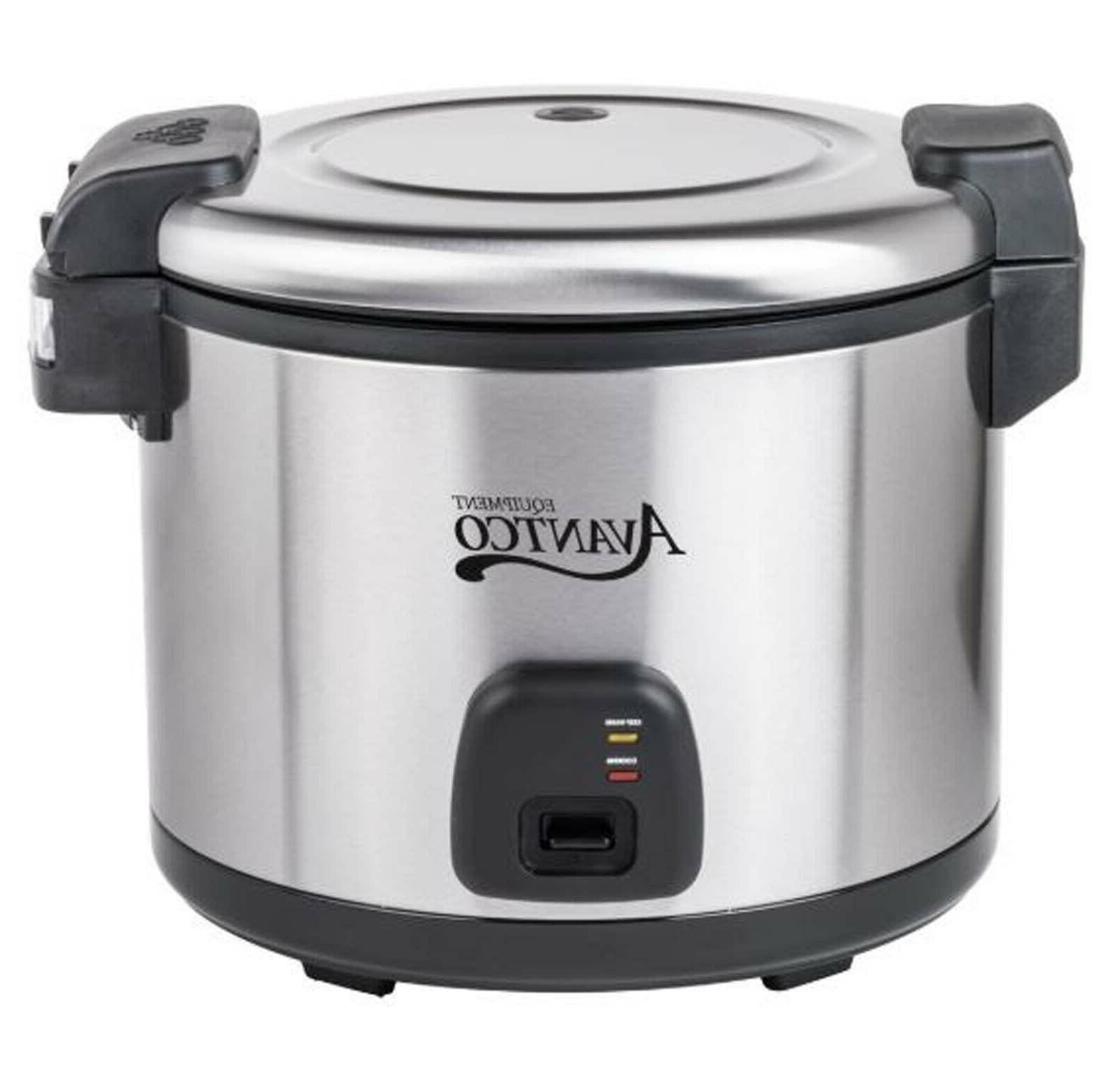 Commercial 60 Cup  Electric Rice Cooker Warmer Stainless Ste