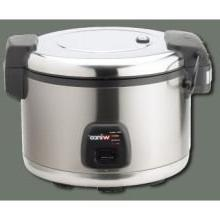 Commercial Electric Rice Cooker & Warmer with Hinged Cover -