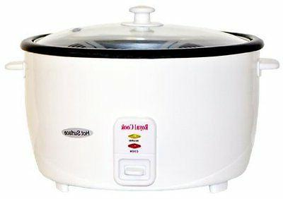 Royal Cook RC-77101 10-Cup Persian Rice Cooker with Glass Li