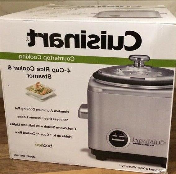 Cuisinart CRC-400 4-Cup Rice Cooker, Stainless Steel Brand n