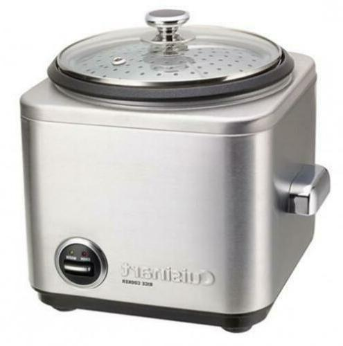 Cuisinart CRC-400 4 Cup Rice Cooker, Stainless Steel Exterio