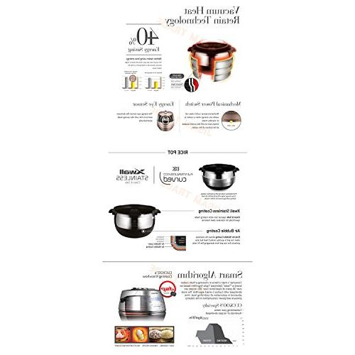 CUCKOO LCD DispalyIH Pressure Cooker Cups & Exclusive User and Key Ring