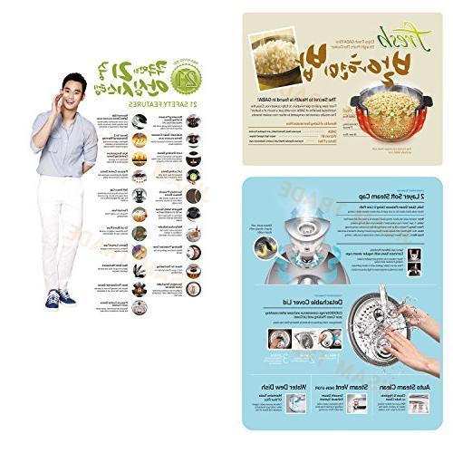 DispalyIH Rice Pressure Cooker 6 & User Manual Ring