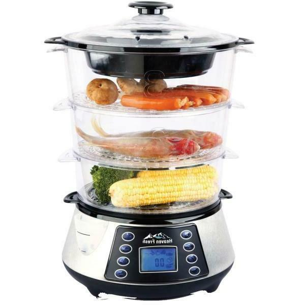 Digital 1 Black Stainless Steamer and