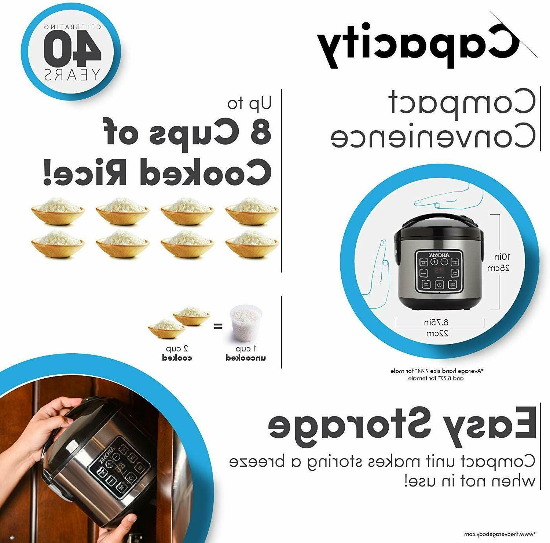 2-8-Cups Digital Grain Steamer
