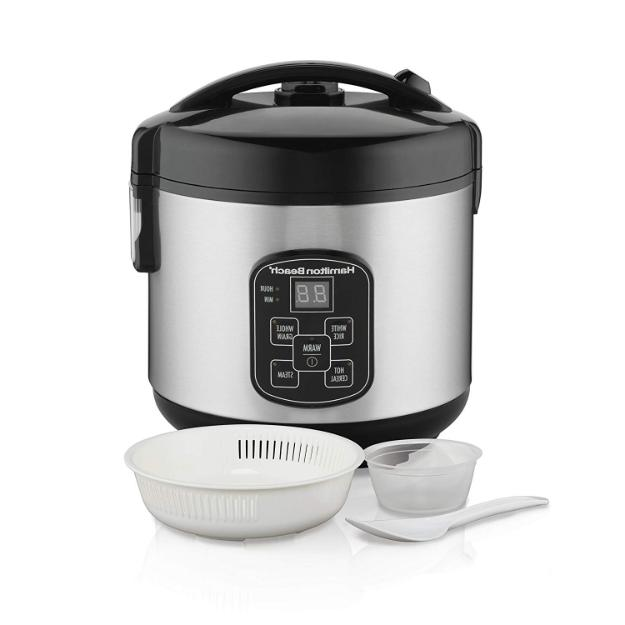 Digital Programmable Rice Cooker Food Steamer 8 Cups Cooked