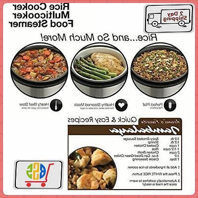 Digital Rice Cooker & Food Meat/Vegetables In Parallel,