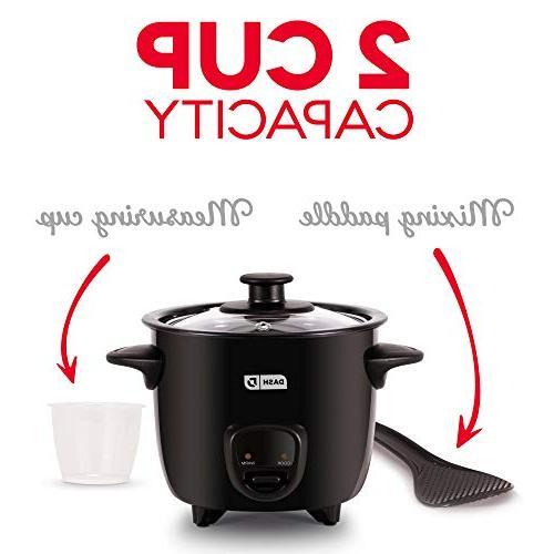 Dash DRCM200BK Mini Cooker Steamer Nonstick Pot, Function Black