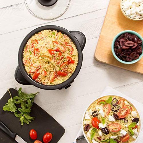 Dash DRCM200BK Rice Cooker Steamer with Nonstick Keep Warm Function Black