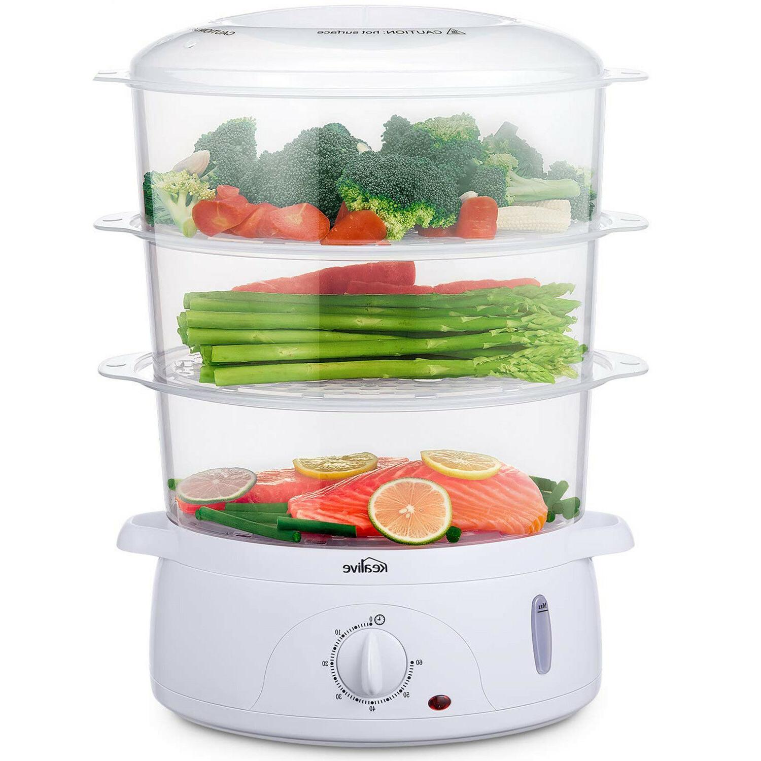 electric food steamer vegetable meat rice steaming