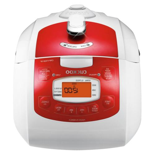 Cuckoo Electric Pressure Rice Cooker CRP-FA0610FR Red