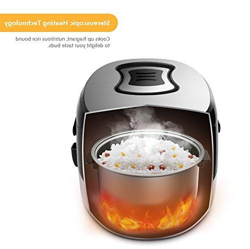 Electric Elechomes Electric Rice Cooker 16-Modes LED Steamer and Non-Stick Surface In-Built Timer