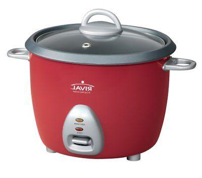 Rival Electric Rice Cooker, Simple User-Friendly 6-Cup, Nons