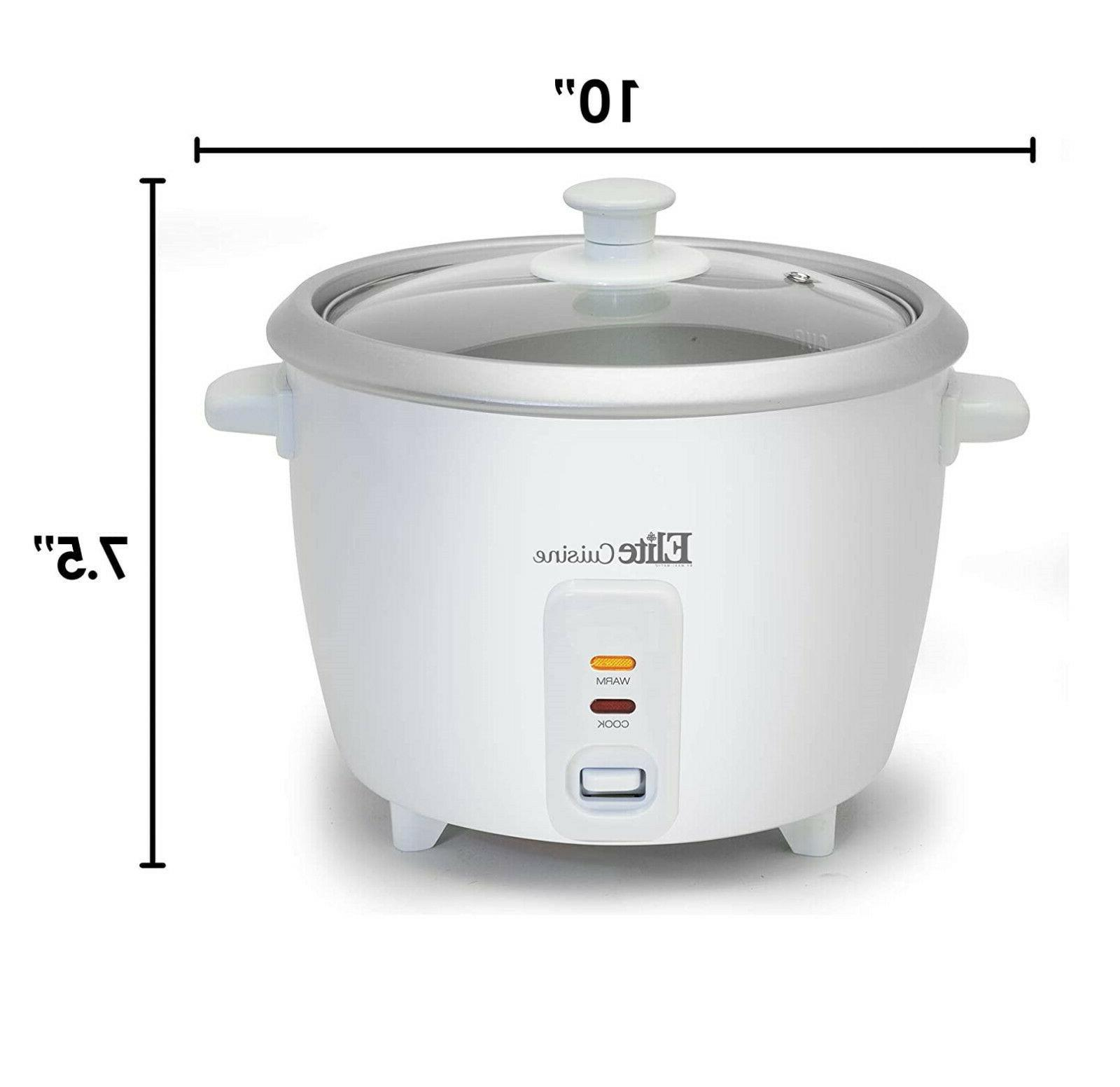 Electric Rice Cooker with Automatic Warm, Cups 3 Uncooked