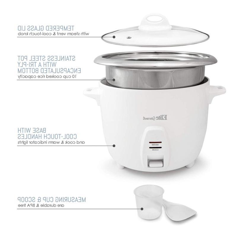 Elite ERC-2010 Rice with Steel Inner Pot...