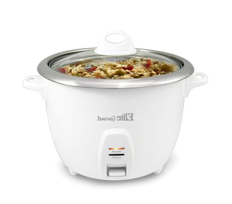 Elite Gourmet ERC-2010 Electric Rice Cooker with Steel Inner Pot...