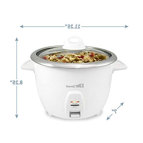 Elite Gourmet Electric Rice Stainless Steel Soups, Cups),