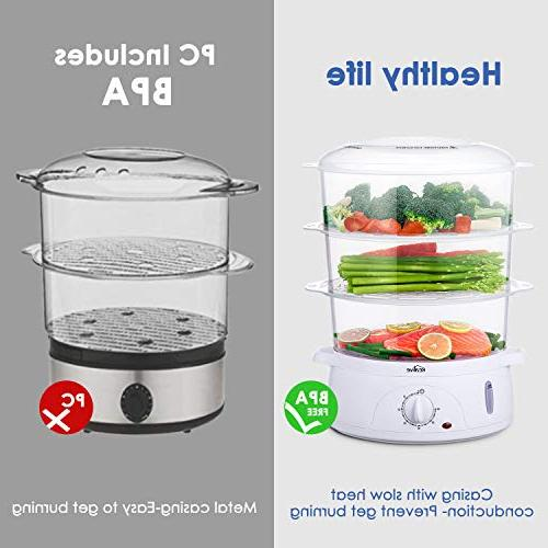 Food Steamer, Vegetable Stackable Pot with Egg , Fast Up, by