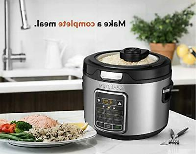 Gourmia 11-in-1 20-Cup Rice Cooker - Clear For Easy